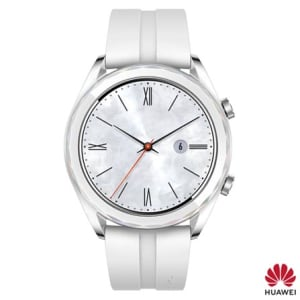 Smartwatch GT Ella-B19P Huawei Inox com 1,2'', Pulseira de Silicone, Bluetooth e 128MB