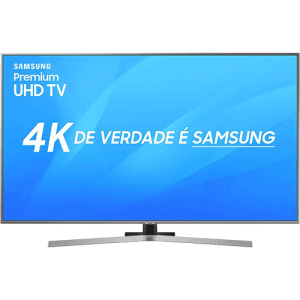 "Smart TV LED 50"" UHD Samsung 50NU7400 Ultra HD 4k com Conversor Digital 3 HDMI 2 USB Wi-Fi Visual Livre de Cabos Controle Remoto Único HDR Premium Bixby"