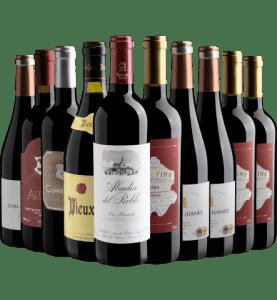 Kit com 10 Vinhos Europeus por R$199,90