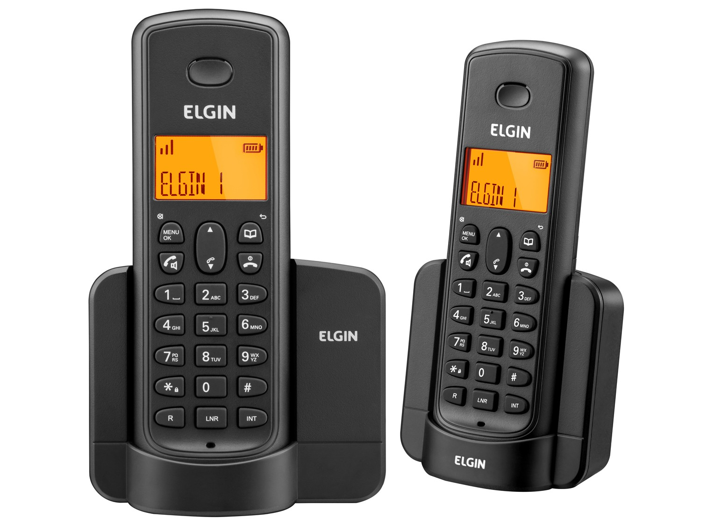 Telefone Elgin TSF8002 Preto sem fio + Ramal - identificador