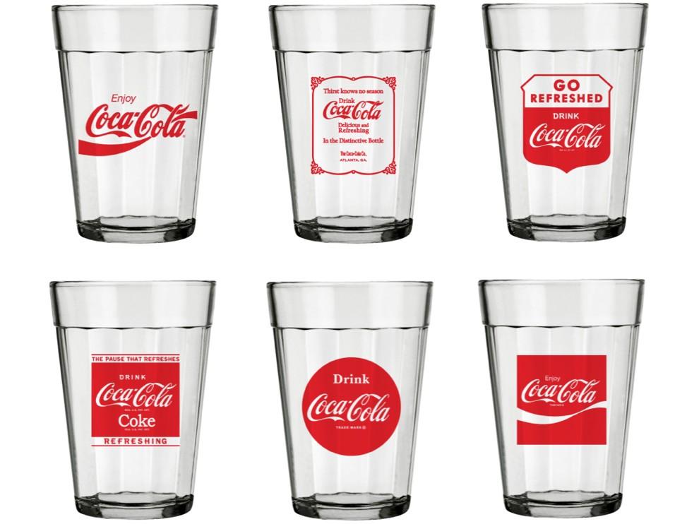 Jogo de Copos de Vidro 6 Peças 190ml Nadir - Coca-Cola Americano