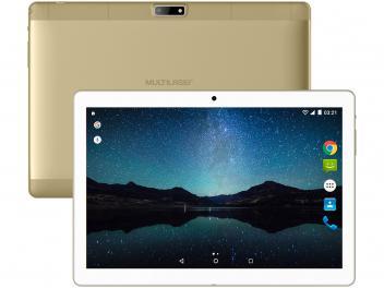 """Tablet Multilaser M10A Lite 8GB Tela 10"""" 3G - Wi-Fi Android 7.0 Proc. Quad Core Câmera Integrada  Dourado"""