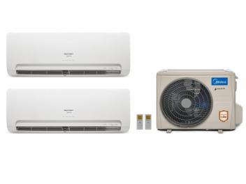 Ar Condicionado MultiSplit Midea Inverter 18000 BTUs 2x Evap 9.000 Quente Frio 220V