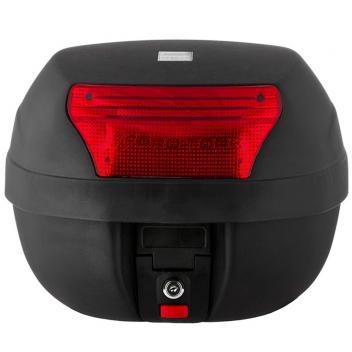Bau Bauleto Pro Tork Para Moto 28 Litros Com Base Preto E Lente Vermelha BP03 - Magazine Ofertaesperta