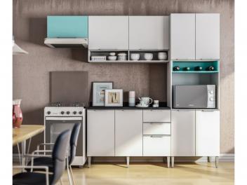 Cozinha Compacta Líder Casa Aroma - 9 Portas 3 Gavetas - Magazine Ofertaesperta
