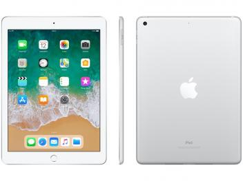 "iPad 6 Apple 128GB Prata Tela 9.7"" Retina - Proc. Chip A10 Câm. 8MP + Frontal iOS 11 Touch ID - Magazine Ofertaesperta"