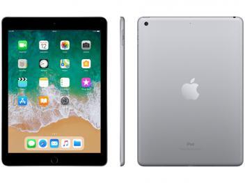"iPad 6 Apple 32GB Cinza Espacial Tela 9.7"" Retina - Proc. Chip A10 Câm. 8MP + Selfie iOS 11 Touch ID - Magazine Ofertaesperta"