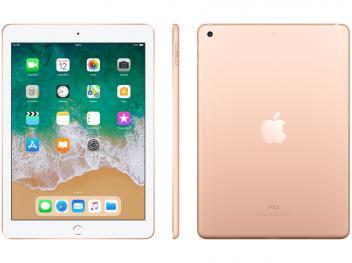 "iPad 6 Apple 32GB Dourado Tela 9.7"" Retina - Proc. Chip A10 Câm. 8MP + Frontal iOS 11 Touch ID - Magazine Ofertaesperta"