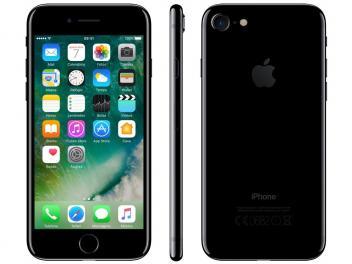 "iPhone 7 Apple 32GB Preto Brilhante 4G Tela 4,7"" - Retina Câm 12MP + Selfie 7MP iOS 11 Proc. Chip A10 - Magazine Ofertaesperta"