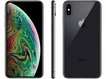 "iPhone XS Max Apple 64GB Cinza Espacial 4G - Tela 6,5"" Retina Câmera Dupla 12MP + Selfie 7MP - Magazine Ofertaesperta"