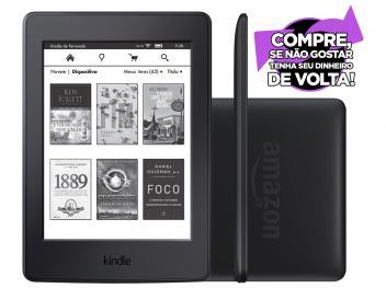"Kindle Paperwhite Amazon Tela 6"" 4GB Wi-Fi - Luz Embutida Preto"
