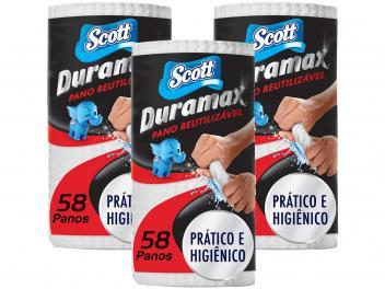 Oferta ➤ Pano de Limpeza Scott Duramax Reutilizável – 3 Pacotes com 58 Unidades Cada – Magazine   . Veja essa promoção