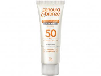 Protetor Solar Facial Cenoura e Bronze 50g - FPS 30 ou 50