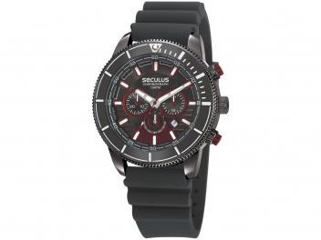Relógio Masculino Adulto Seculus Analógico - 23665GPSVSI1 Esportivo Preto