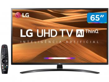 "Smart TV 4K LED IPS 65"" LG 65UM7470PSA Wi-Fi - Bluetooth HDR Inteligência Artificial 3 HDMI 2 USB - Magazine Ofertaesperta"