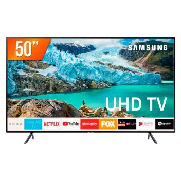 """Smart TV LED 50"""" Ultra HD 4K Samsung RU7100 3 HDMI 2 USB Wi-Fi iTunes"""