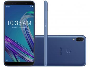 """Smartphone Asus ZenFone Max Pro (M1) 32GB Azul 4G - 3GB RAM Tela 6"""" Câm. 13MP + 5MP + Selfie 8MP"""