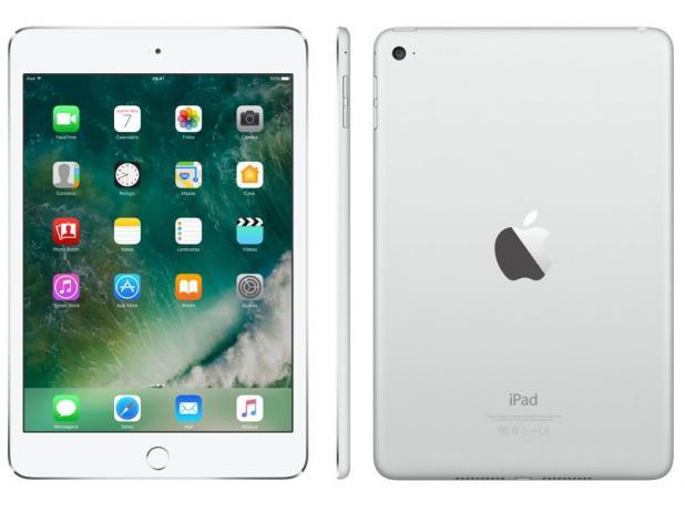 """iPad Mini 4 Apple 128GB Prata Tela 7,9"""" Retina - Proc. Chip A8 Câm. 8MP + Frontal iOS 10 Touch ID"""