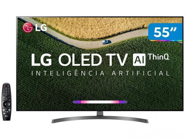"""Smart TV 4K OLED 55"""" LG OLED55B9PSB Wi-Fi - HDR Inteligência Artificial 4 HDMI 3 USB"""
