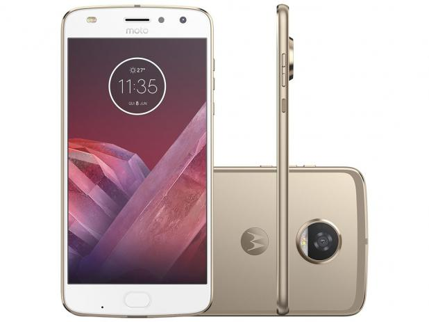 573573256 Smartphone Motorola Moto Z2 Play 64GB Ouro - Dual Chip 4G Câm. 12MP +  Selfie 5MP Tela 5.5""