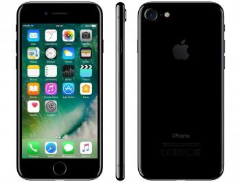 "iPhone 7 Apple 128GB Preto Brilhante 4G Tela 4.7"" - Retina Câm. 12MP + Selfie 7MP iOS 10 - Magazine Ofertaesperta"