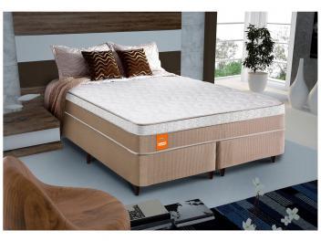 Oferta ➤ Cama Box Queen Size (Box + Colchão) Celuplás Mola – Vanille Softgel   . Veja essa promoção