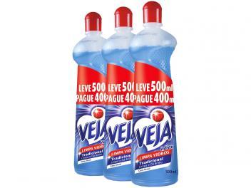 Veja Vidrex - Limpa Vidros Squeeze 500ml - 3 Unidades