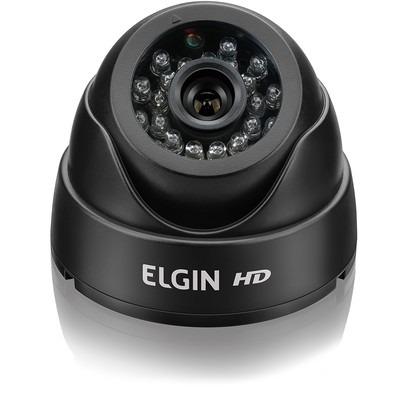 Câmera Dome Elgin AHD 720p 24 Leds IR 20m Lente 3.6 mm Preta
