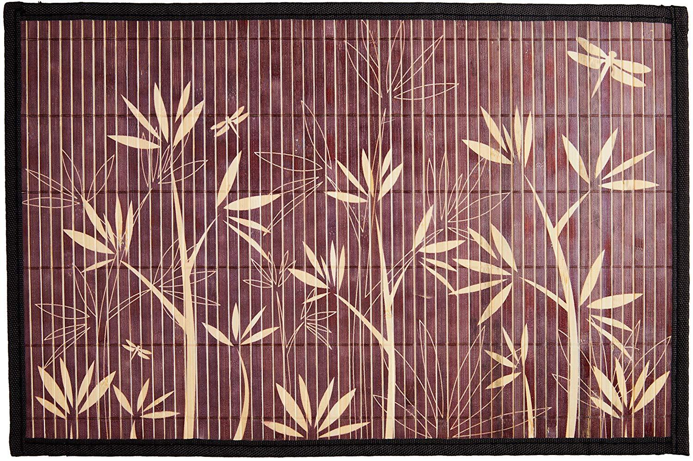 Lugar Americano Bamboo Floral 30x45 Mimo Style Marrom