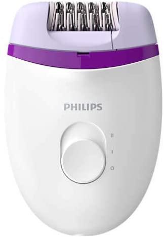 Depilador Elétrico 2 Velocidades Branco e Roxo, Bivolt - Philips