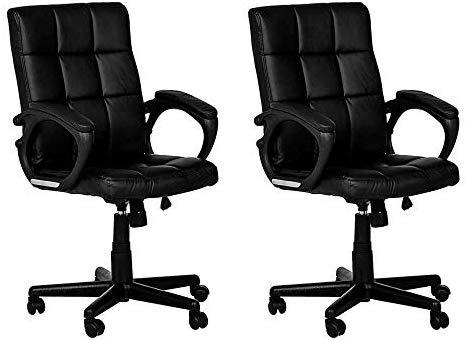 Conjunto com 2 Cadeiras de Escritório Diretor Giratória Charles Preto - UN