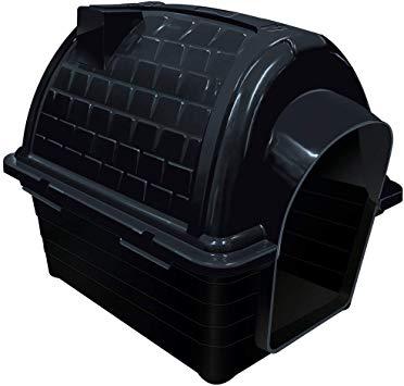 Casinha Plástica Furacão Pet Iglu N.2.0, Black Furacão Pet para Cães