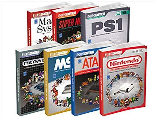Coleção Consoles Old! Gamer. Ano 1  - Caixa com 7 Volumes
