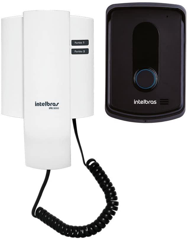 Porteiro Residencial, Intelbras, IPR 8010, Preto/Branco