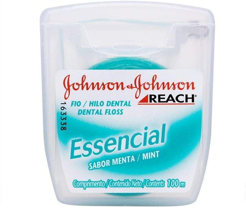 10 unidades -  Fio Dental Essencial, Reach, 100m