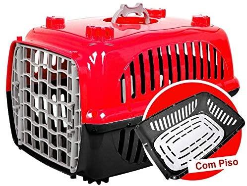 Caixa Transporte Burdog N.1-Vermelha Burdog para Cães