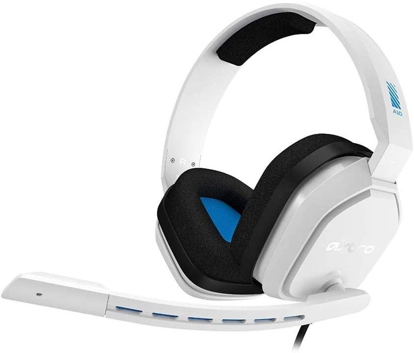 Headset ASTRO Gaming A10 para PlayStation, Xbox, PC, Mac - Branco/Azul