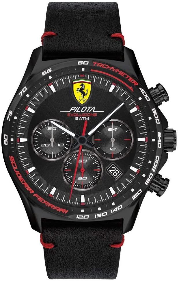 Relógio Scuderia Ferrari Masculino Couro Preto - 830712