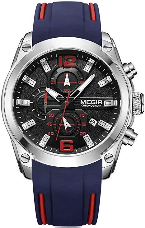 Relógio Masculino Megir Mens Racing ML 2052 G-BK-1