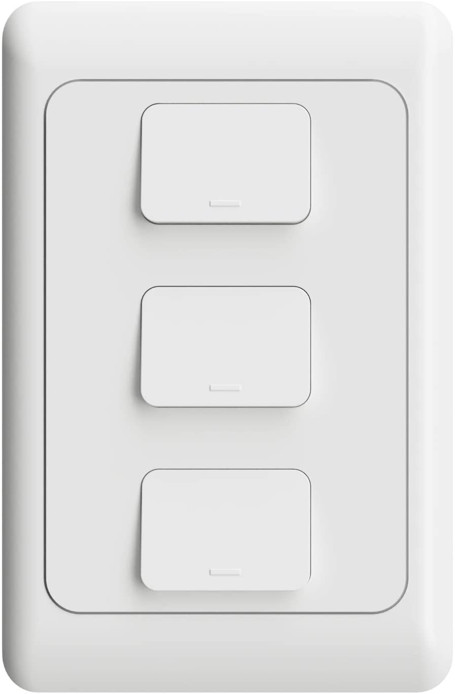 Interruptor Inteligente WiFi AGL - 03 teclas - Compatível com Alexa - Branco