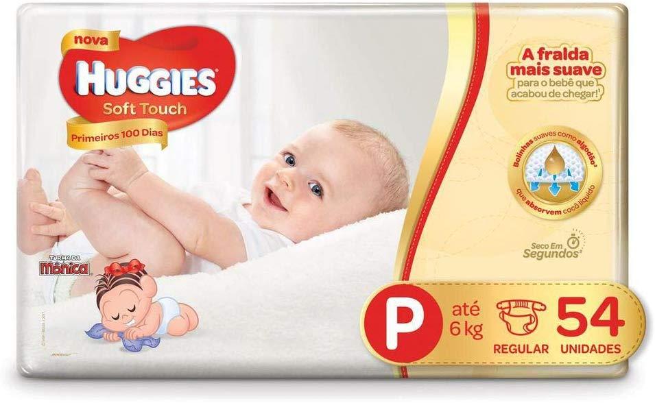 Fralda Huggies Soft Touch Mega P 54 Fraldas