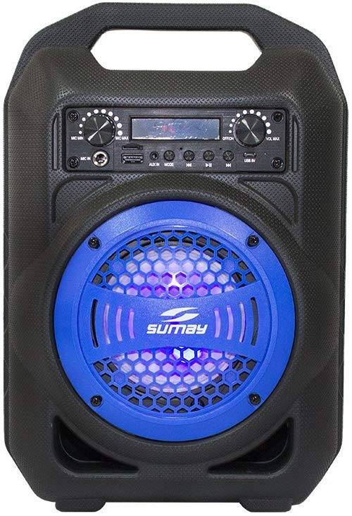 Caixa de Som Bluetooth, SUMAY, Gallon Music 5149, Azul