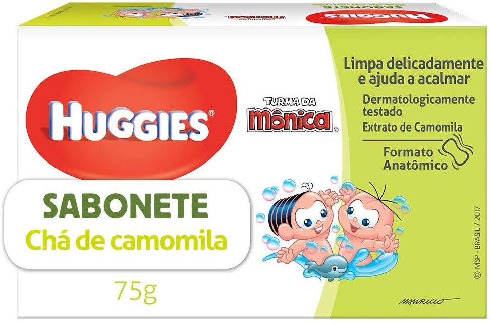 Sabonete Em Barra Huggies Chá De Camomila/Extra Suave/toque De Amêndoas, 75g