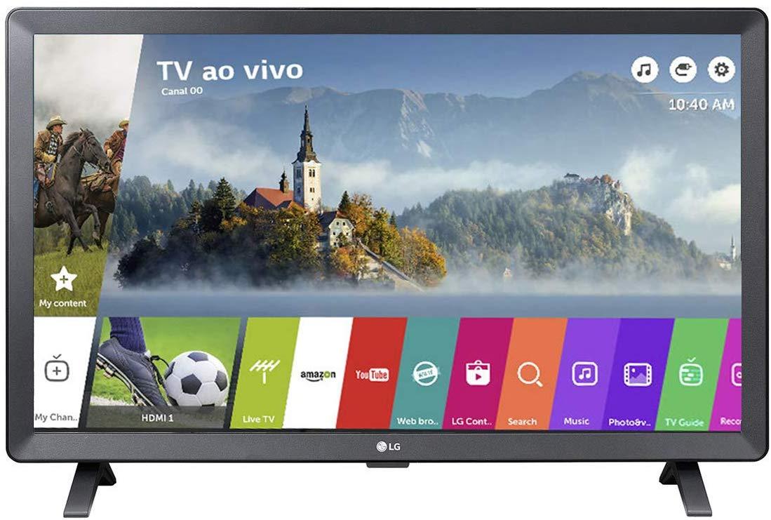 Smart TV Monitor LED 23.6´ LG 2 HDMI 1 USB Wi-Fi - 24TL520S
