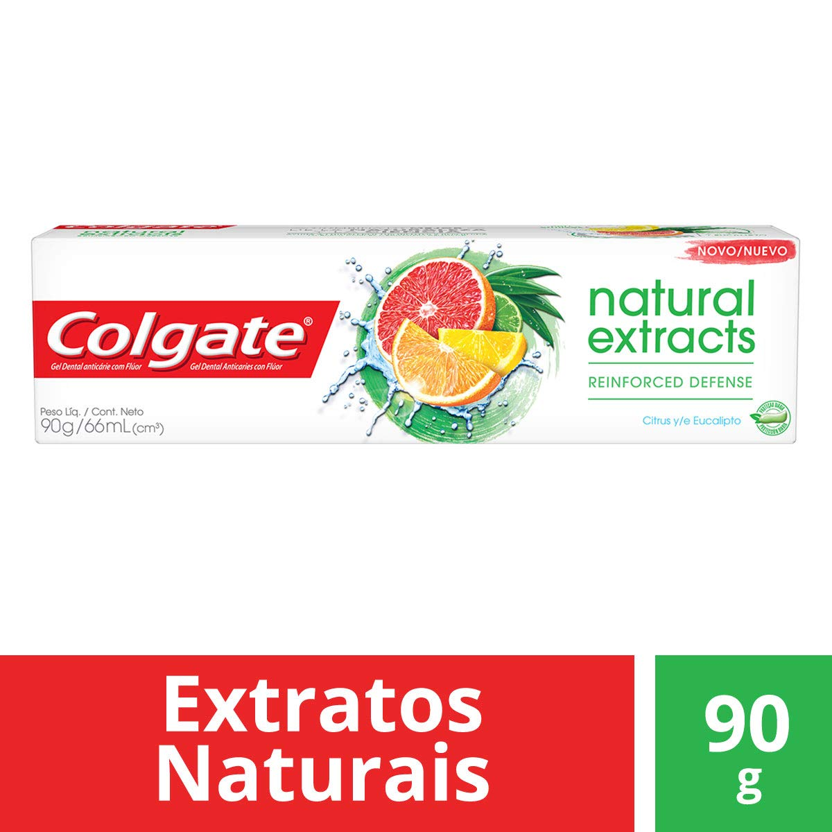 Creme Dental Colgate Natural Extracts Reinforced Defense 90g