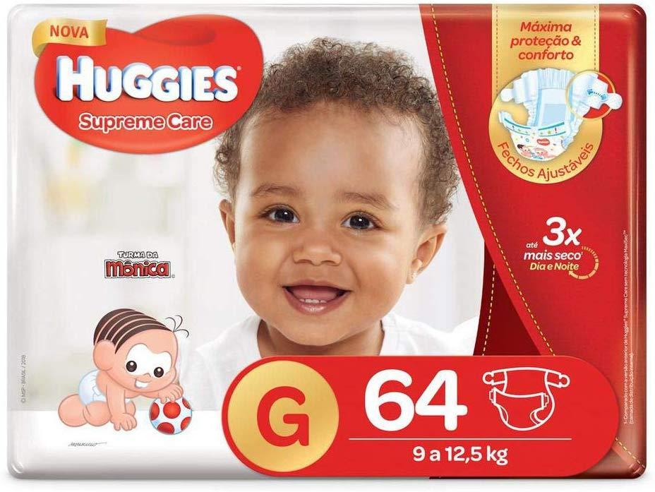Huggies Fralda Supreme Care Hiper G, 64 Fraldas