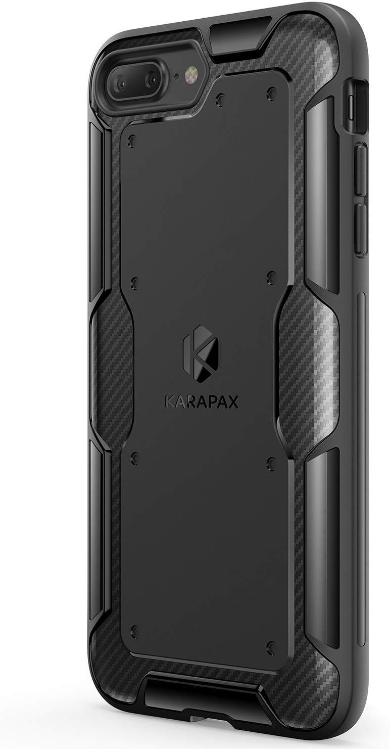 Capa para iPhone 7/8, Anker Karapax Shield+, Proteção Nível Militar, Anti-riscos, Suporta Carregamento Wireless, Preto