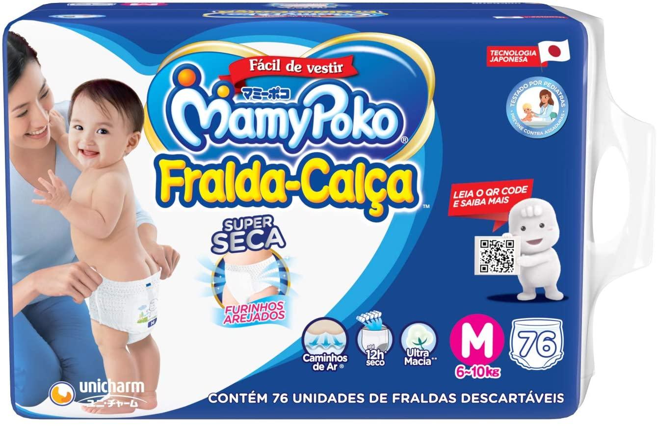 Fralda-Calça Super Seca MamyPoko M - 76 unidades