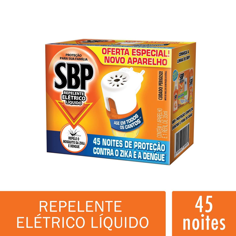 Repelente Elétrico Líquido 45 Noites Kit com Aparelho e Refil SBP