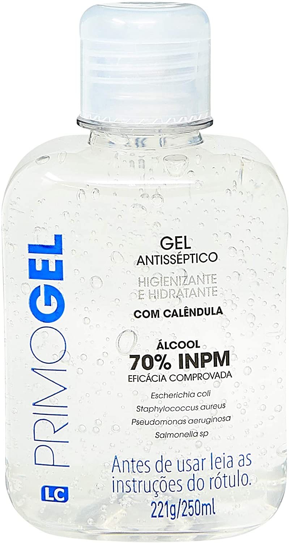Álcool Gel Primogel 250ml, LC Primo Gel, 250ml